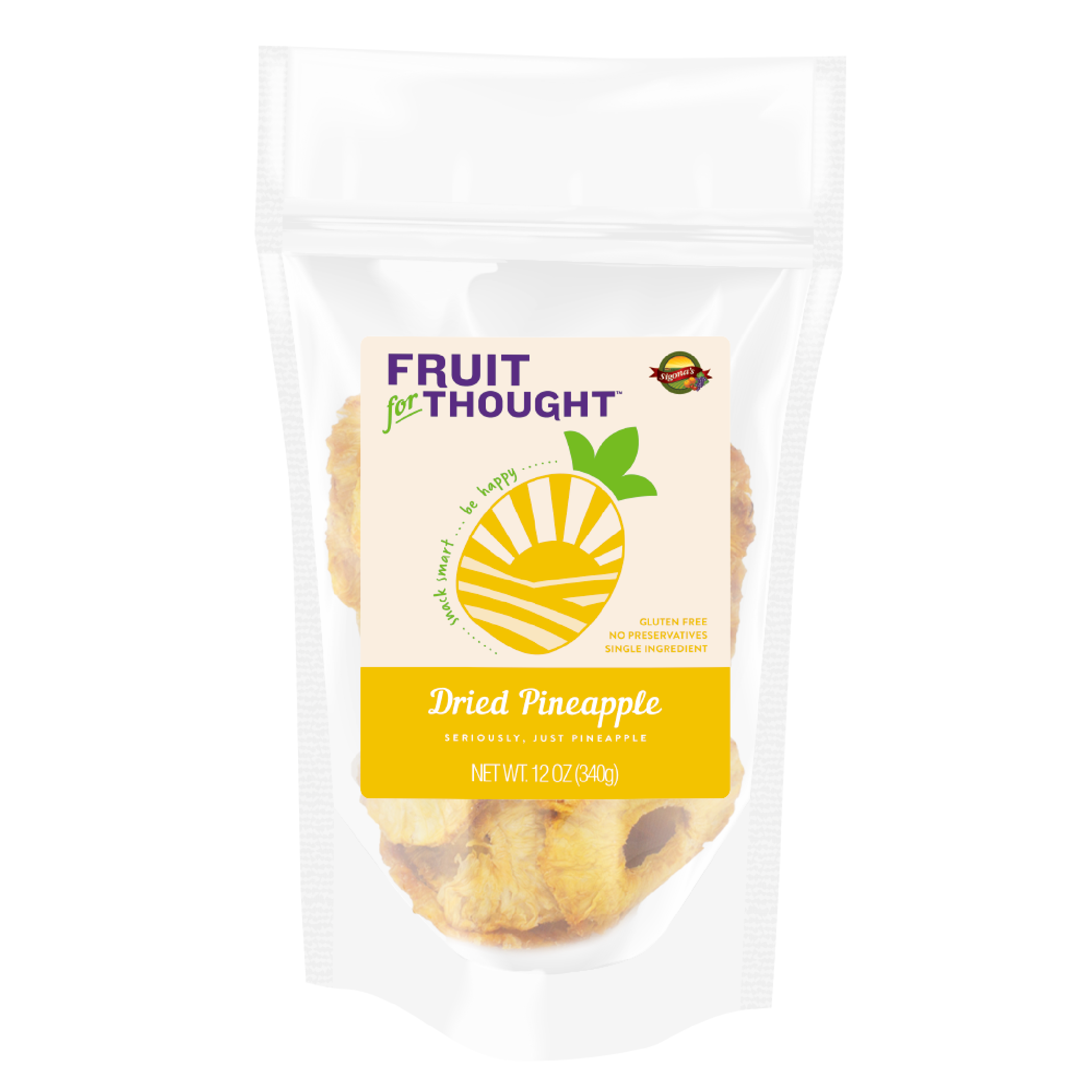 Fruit for Thought Dried Pineapple 12 oz